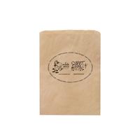 "Custom Printed 8 1/2"" x 11"" NATURAL KRAFT MERCHANDISE BAG"