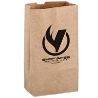 Custom NATURAL KRAFT 12# SOS GROCERY BAG