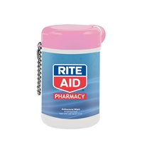Branded Antibacterial Wet Wipes in a Canister