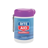 Antibacterial Wet Wipes in a Canister imprinted with your logo