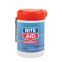 Antibacterial Wet Wipes in a Canister with your logo