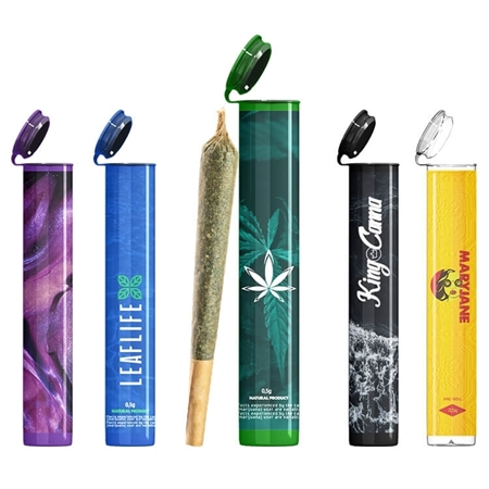 Custom Pre Roll Joint Tube with Full Color Decal