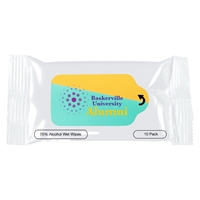 Custom Antibacterial Wet Wipes in a Pouch - 10ct.