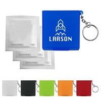 Custom Antiseptic Wipes In Carrying Case Keychain