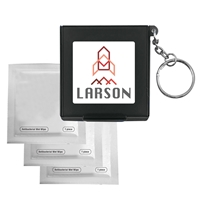 Antiseptic Wipes In Carrying Case Keychain with your logo