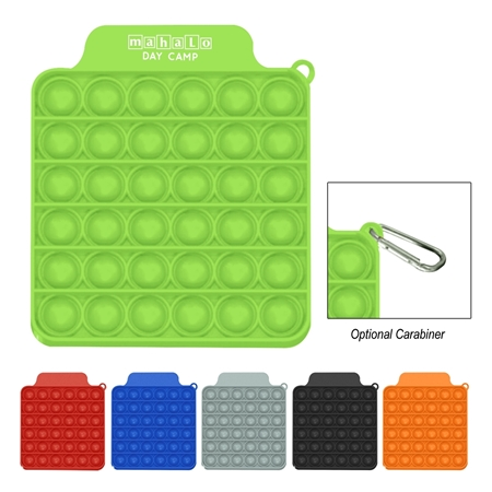 Custom Push Pop Square Stress Reliever Game