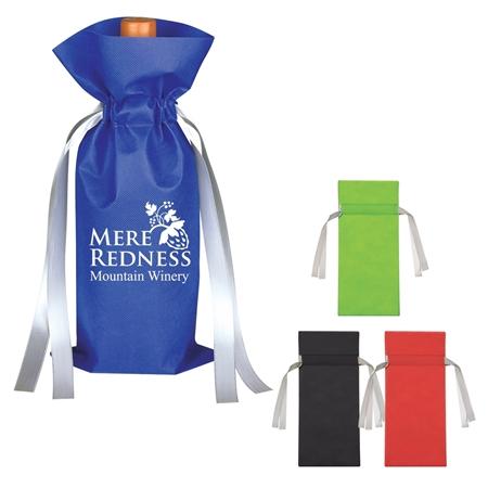 Custom Printed Wine Bottle Non-Woven Gift Bag