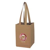 Custom Non-Woven 4 Bottle Wine Tote Bag