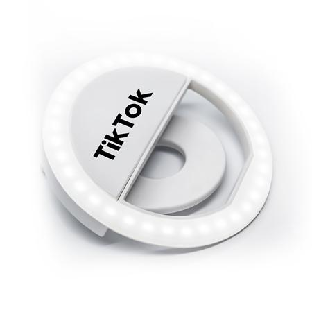 Custom LED Clip On Virtual Online Meeting / Selfie Ring Light