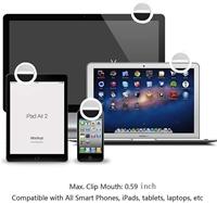 Custom Printed LED Clip On Virtual Online Meeting / Selfie Ring Light