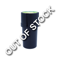 Custom Full Color Label on Black Plastic Grinder & Storage Container