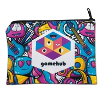 """Custom 6.5""""w x 4.5""""h Sublimated Zippered Pouch"""