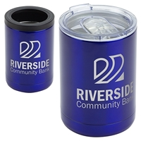 Promotional 12 oz. Vacuum Insulated Stainless Steel Tumbler + Can Cooler