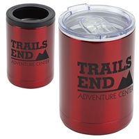Branded 12 oz. Vacuum Insulated Stainless Steel Tumbler + Can Cooler