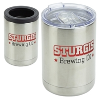 12 oz. Vacuum Insulated Stainless Steel Tumbler + Can Cooler with your logo